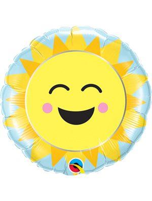 "Globo foil Sunshine Rainbow 9"""