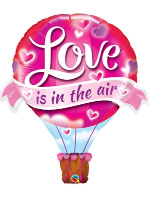 Globo foil aerostático Love is In The Air Balloon