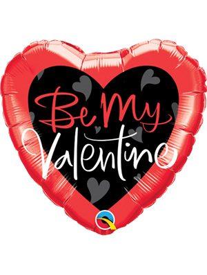 Globo foil Be My Valentine Script