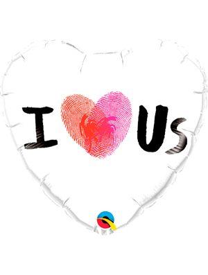 Globo foil I ( Thumbprint Heart ) Us