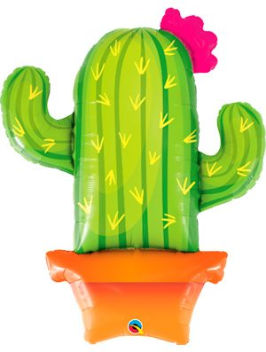 Globo foil Potted Cactus