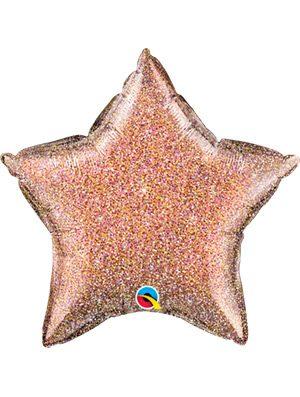 Globo foil estrella Glittergraphic Rose Gold