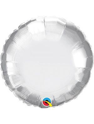 Globo foil redondo Chrome Silver