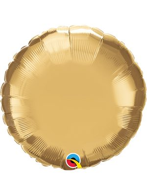 Globo foil redondo Chrome Gold