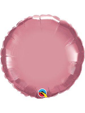 Globo foil redondo Chrome Mauve