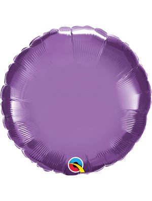 Globo foil redondo Chrome Purple