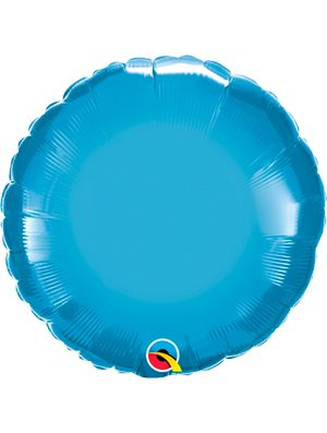 Globo foil redondo Chrome Blue