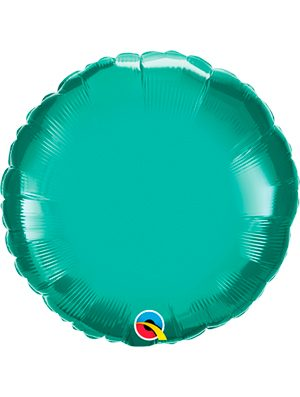 Globo foil redondo Chrome Green