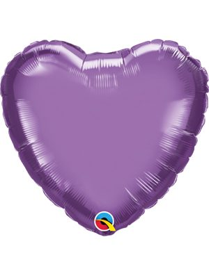 Globo foil corazón Chrome Purple