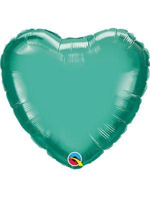 Globo foil corazón Chrome Blue