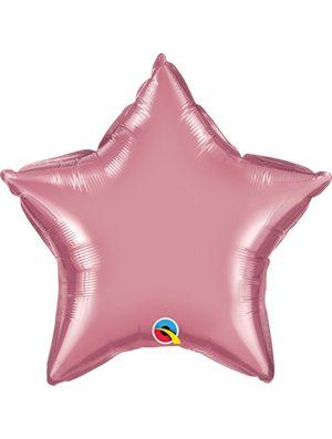 Globo foil estrella Chrome Mauve