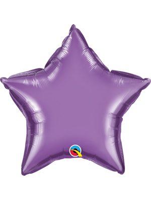 Globo foil estrella Chrome Purple