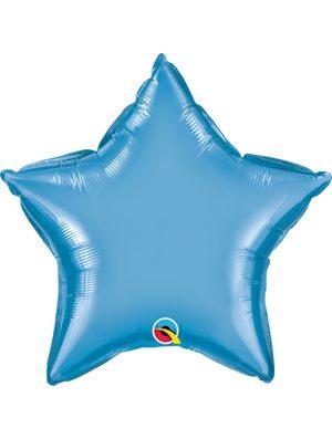 Globo foil estrella Chrome Blue
