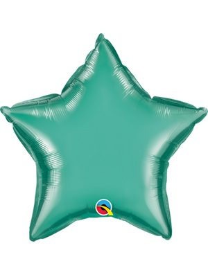 Globo foil estrella Chrome Green