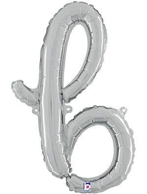 Globo foil letra B Plata Script Letters