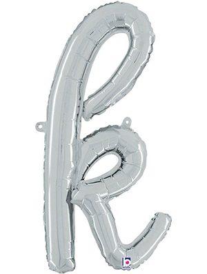 Globo foil letra K Plata Script Letters