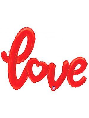 Globo foil texto Love color Rojo