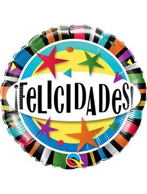 Globo foil Felicidades Stars