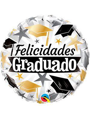 Globo foil Graduado Black & Gold Caps