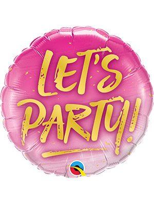 "Globo foil Let's Party! 18"""