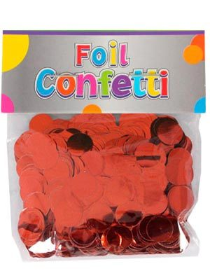 Confetti metálico Rojo 10mm
