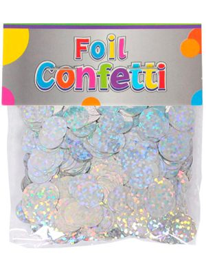 Confetti Holografíco metálico Plata 10mm
