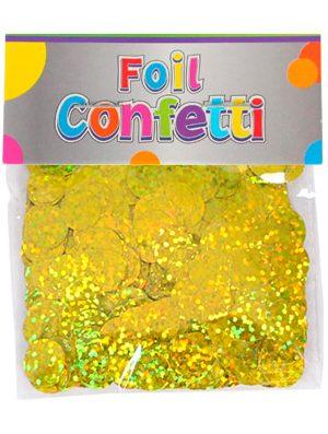 Confetti Holografíco metálico Oro 10mm