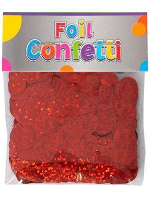 Confetti Holografíco metálico Rojo 10mm
