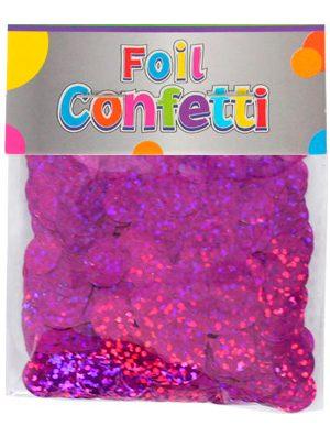 Confetti Holográfico metálico Fucsia 10mm