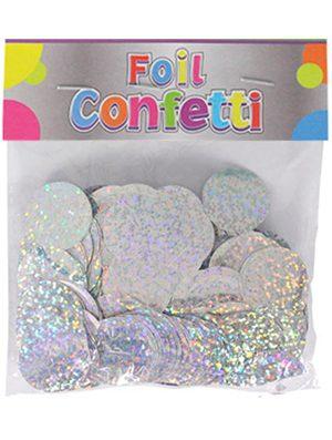 Confetti Holográfico metálico Plata 25mm