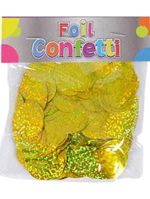 Confetti Holográfico metálico Oro 25mm