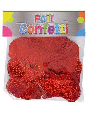 Confetti Holográfico metálico Rojo 25mm