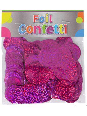 Confetti Holográfico metálico Fucsia 25mm