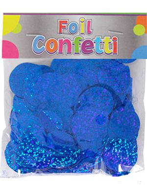Confetti Holográfico metálico Azul 25mm