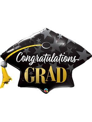 Globo foil Congratulations Grad Stars