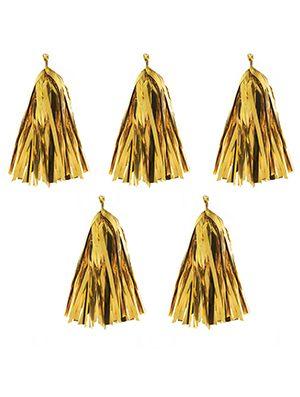 Tassel para globo dorado metalizado