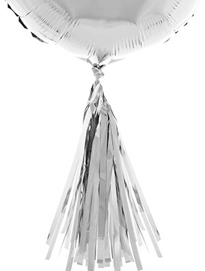 Tassel para globo plata metalizado