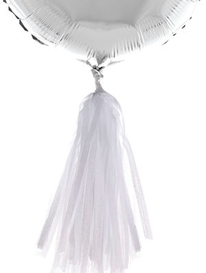 Tassel para globo blanco de papel