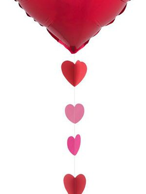 Cinta con Corazones rojos