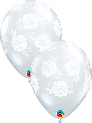 Globo látex Roses in Bloom transparente