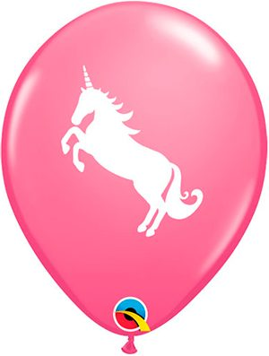 Globo látex Unicorn Rosa pack 6