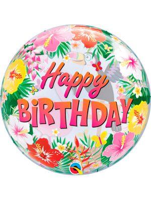 Globo bubble Tropical Birthday Party