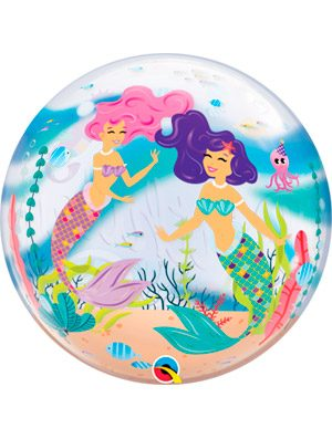 Globo bubble Mermaid Birthday Party