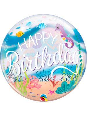 Globo bubble Mermaid Birthday Party