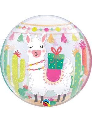 Globo bubble Llama Birthday Party