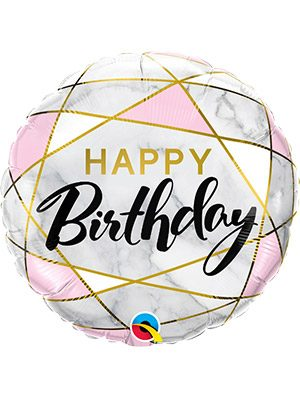 Globo foil Birthday Marble Rectangles
