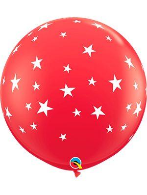 Globo látex gigante Contempo Stars-A-Rnd Rojo