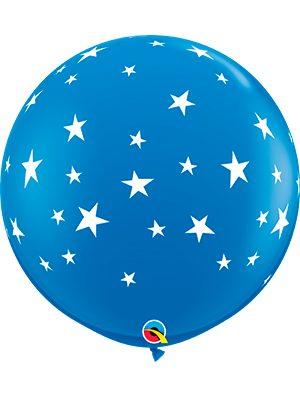 Globo látex gigante Contempo Stars-A-Rnd Azul