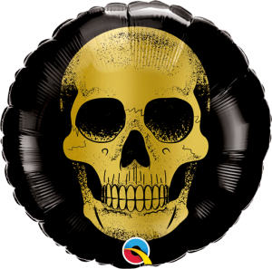 Globo foil Golden Skeleton 9""