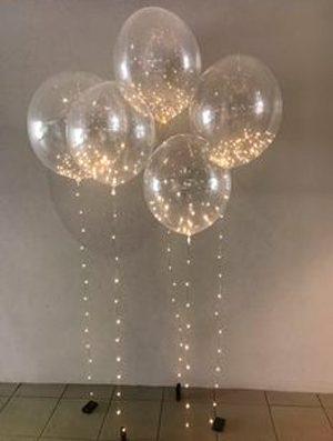 Cinta 10 led para globos luz dorada